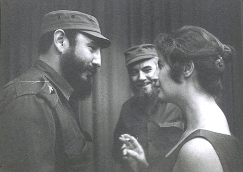 Deena with Fidel
